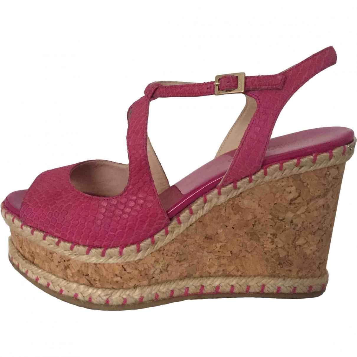 Jimmy Choo \N Exotic leathers Sandals for Women 39 EU