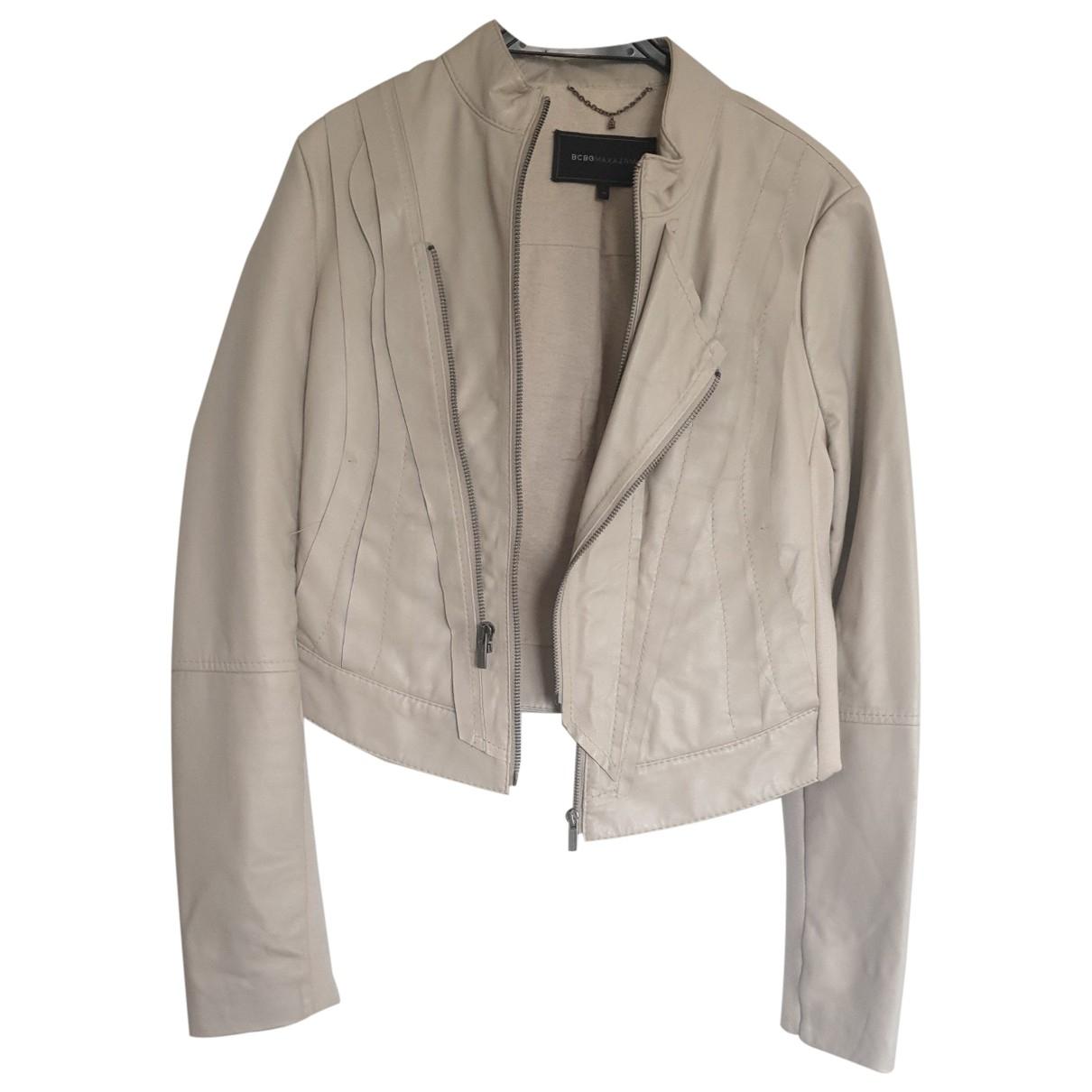 Bcbg Max Azria - Veste   pour femme en cuir - beige