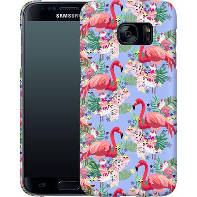 Samsung Galaxy S7 Smartphone Huelle - Flamingo Tropical von Mukta Lata Barua