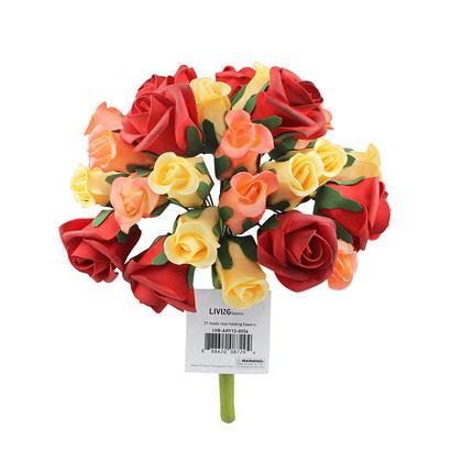 Wedding Bouquet Holding Flowers 27 Heads Foam Rose - LIVINGbasics™