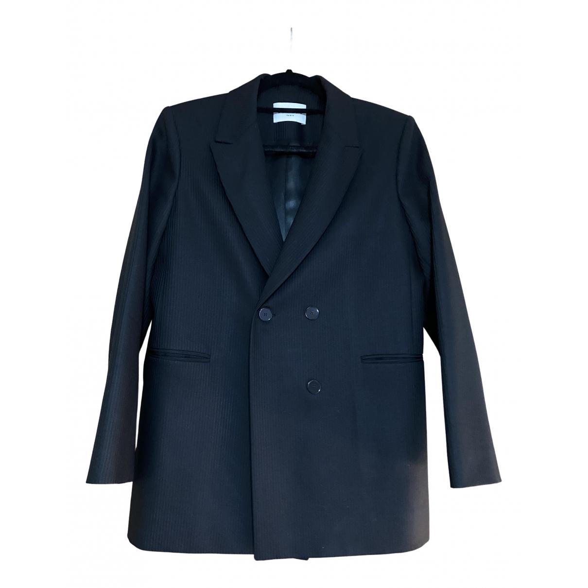 Sandro \N Black Wool jacket for Women 40 FR
