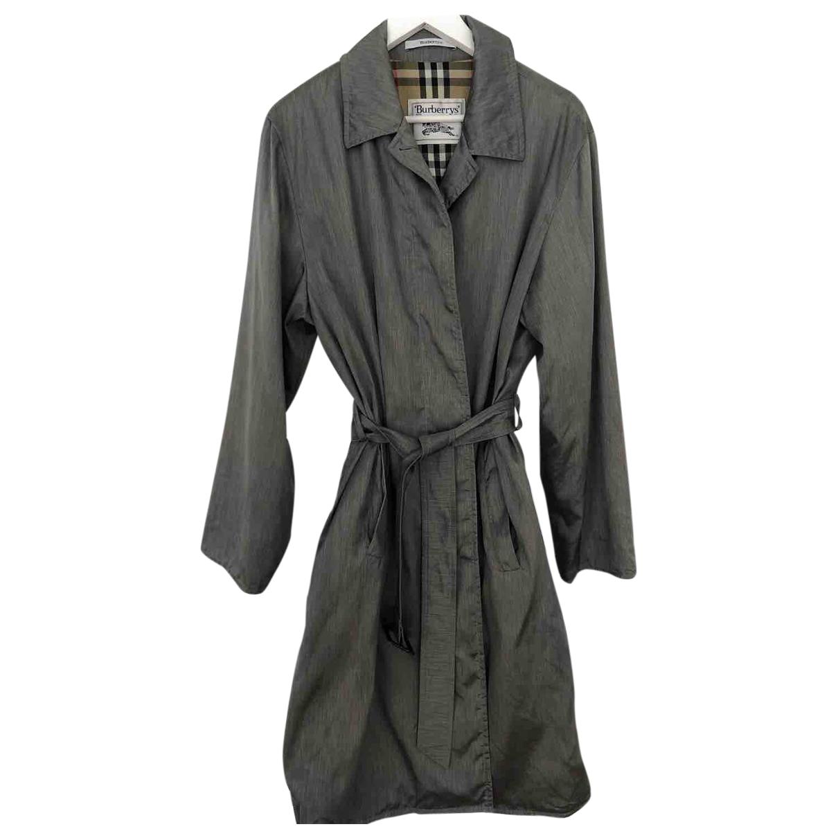 Burberry - Manteau   pour femme en coton - gris