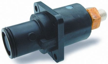 ITT Cannon , Veam Snaplock IP67 Black Panel Mount 1P Mains Connector Plug, Rated At 250.0A, 1.0 kV