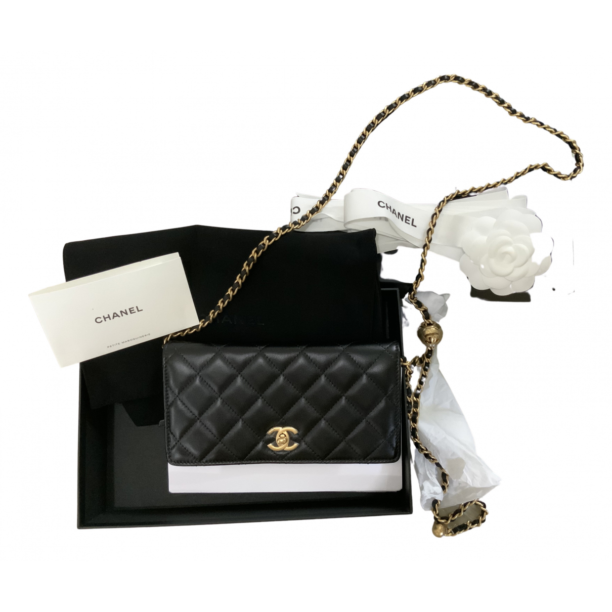 Chanel Wallet on Chain Black Leather handbag for Women N