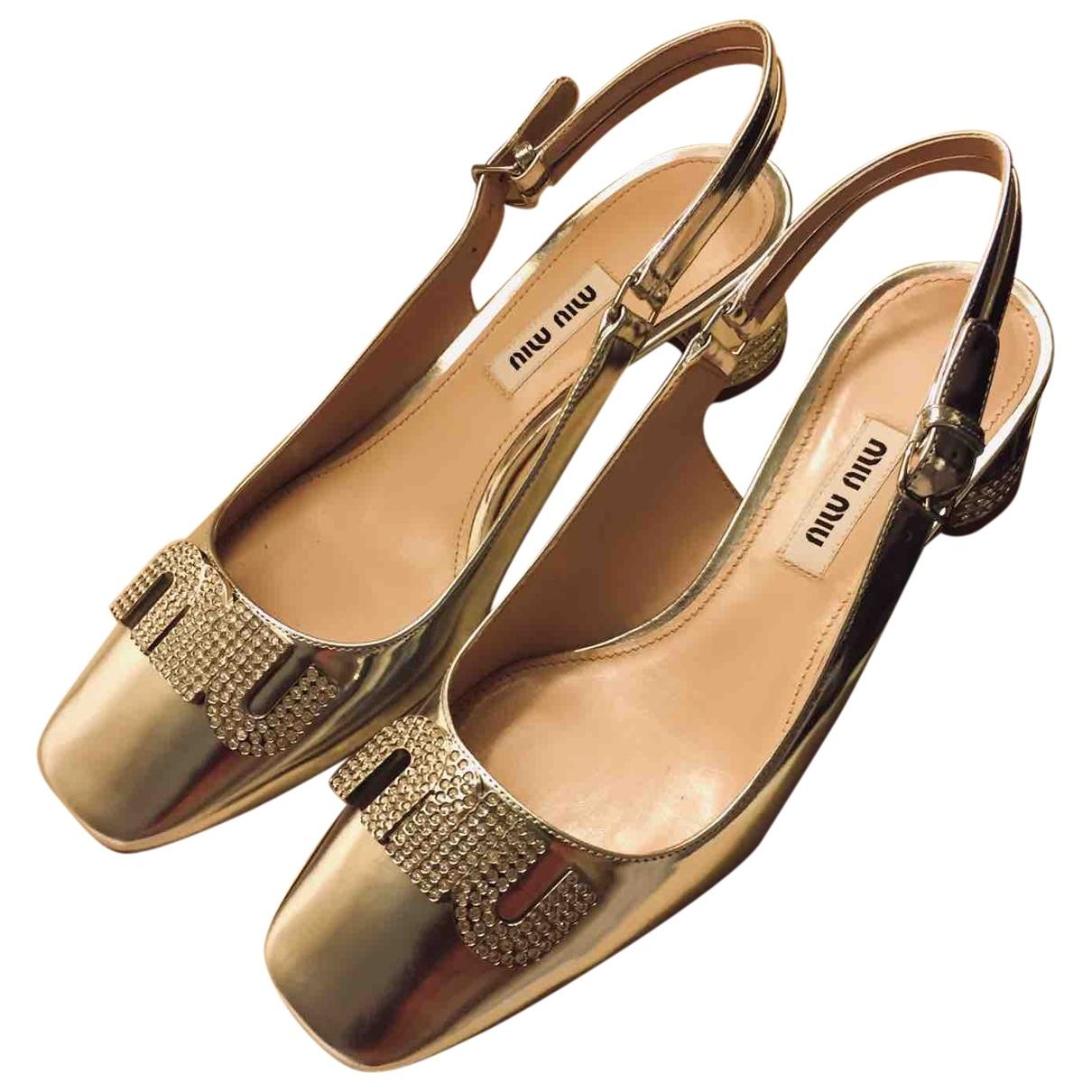 Miu Miu \N Silver Leather Heels for Women 36 EU