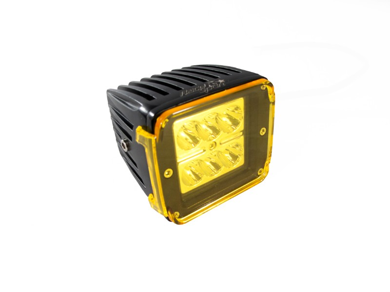 Race Sport Lighting RS6L24WC-PR Street Series 3x4 Inch 24W 6-LED CREE Cube Spot Light with Optional Amber Cover Pair