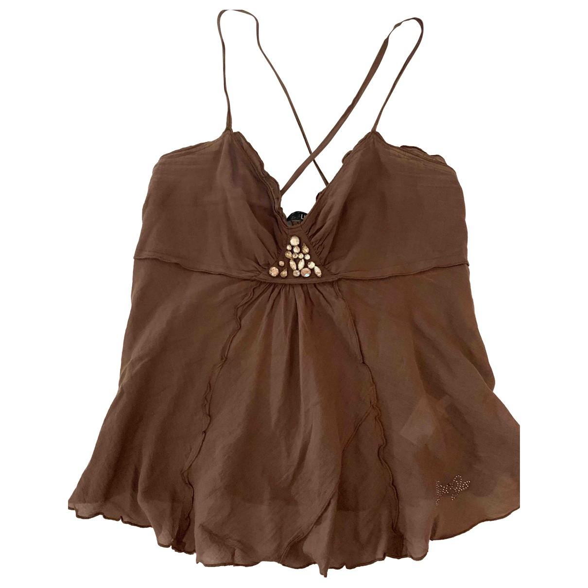 Liu.jo - Top   pour femme en coton - marron