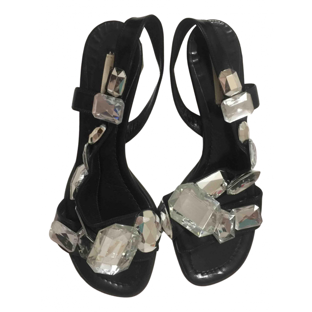 Marc Jacobs N Black Leather Sandals for Women 40 EU