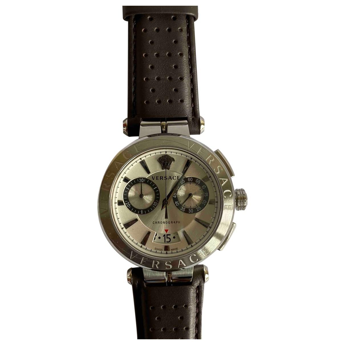 Versace \N Uhr in  Braun Stahl