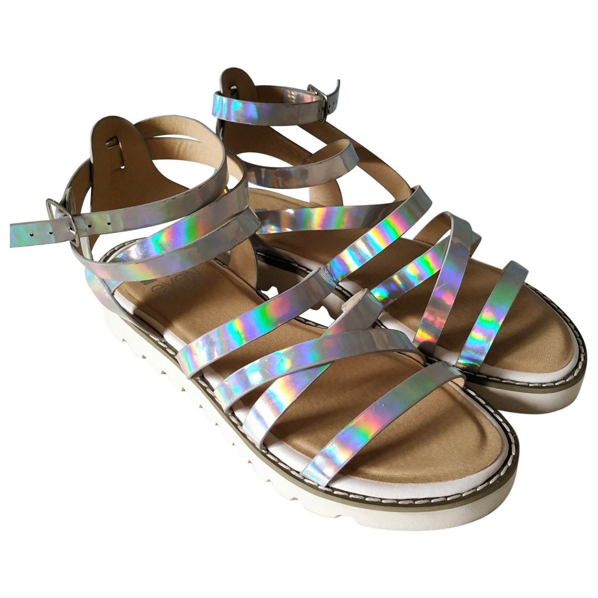 Non Signé / Unsigned \N Metallic Sandals for Women 37 EU
