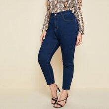 Skinny Jeans mit dunkler Waschung