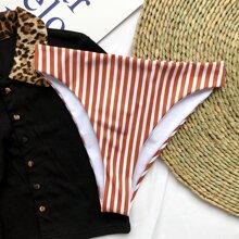Striped High Waisted Bikini Panty