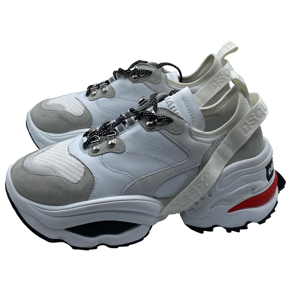 Dsquared2 - Baskets The Giant K2 pour homme en cuir - blanc