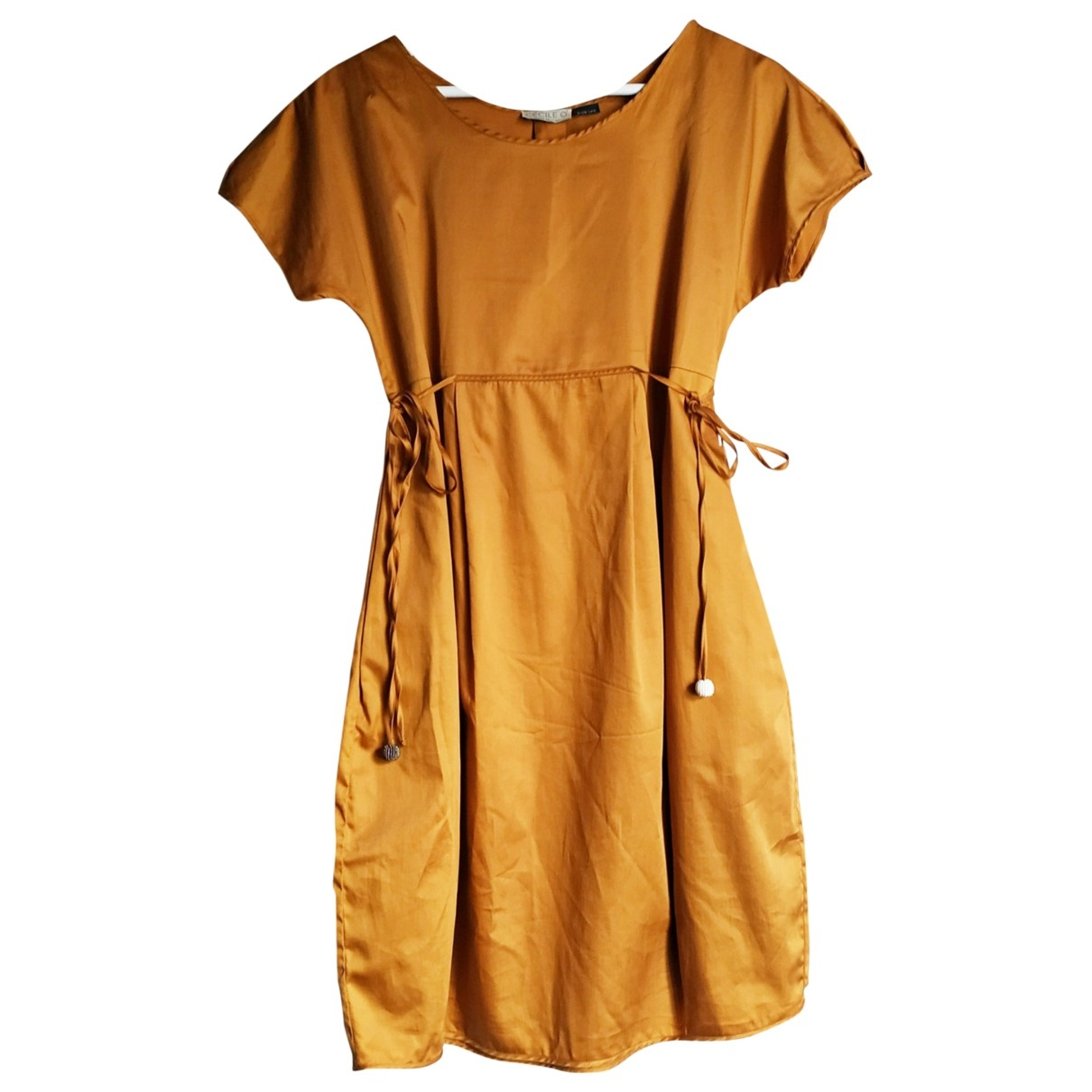 Non Signé / Unsigned \N Orange Cotton dress for Women 42 IT