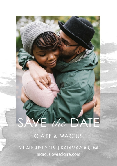 Save the Date Flat Glossy Photo Paper Cards with Envelopes, 5x7, Card & Stationery -Save The Date Watercolor