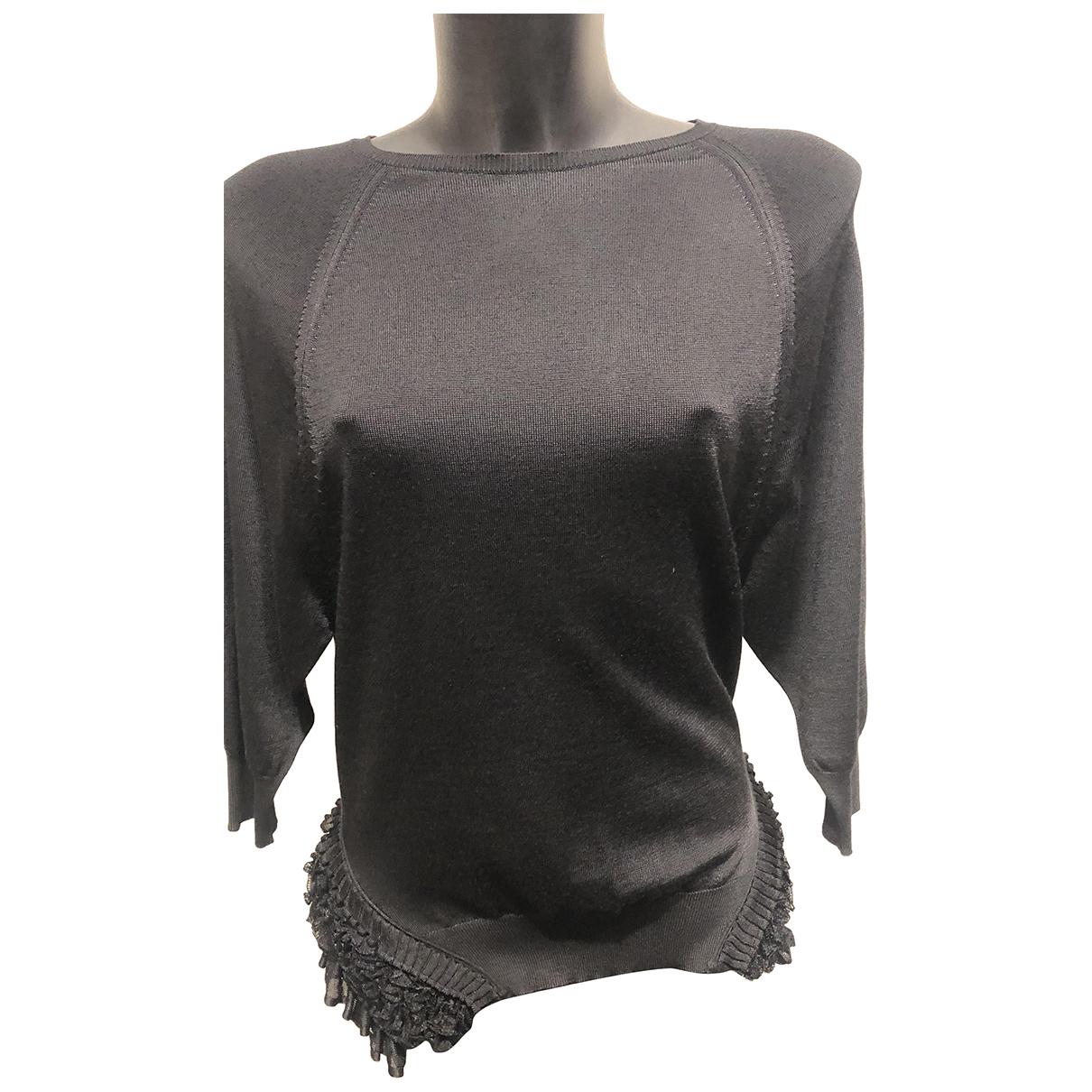 Roberto Cavalli N Black Wool Knitwear for Women 38 IT