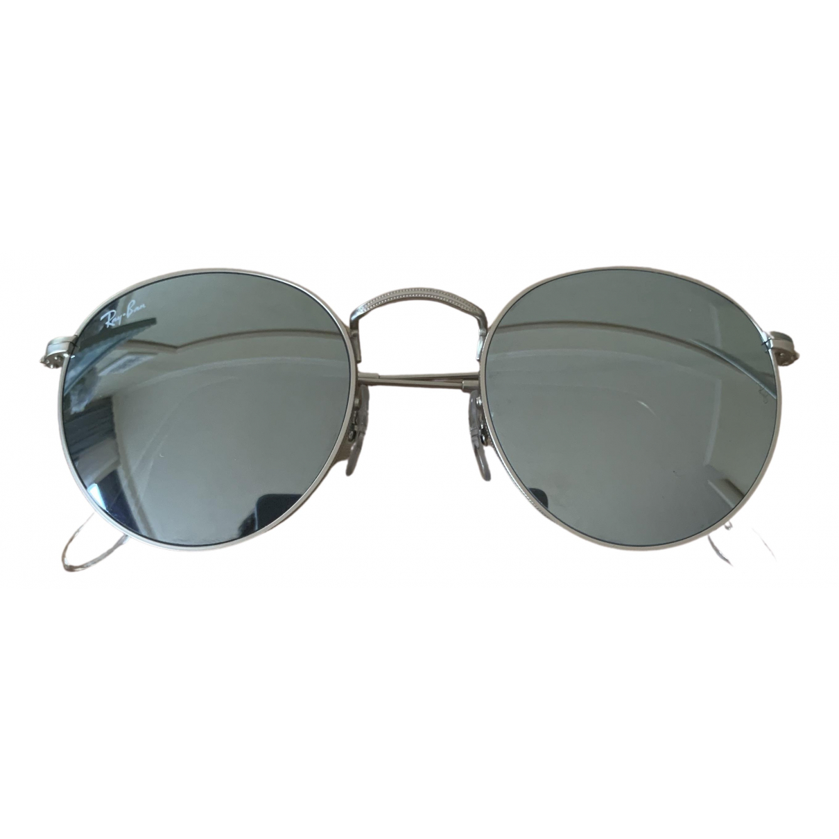 Ray-ban Round Silver Metal Sunglasses for Women N