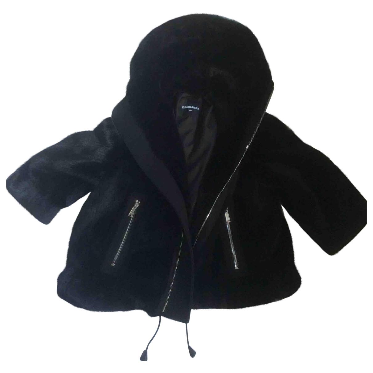 Dsquared2 \N Black Faux fur jacket for Women 40 IT
