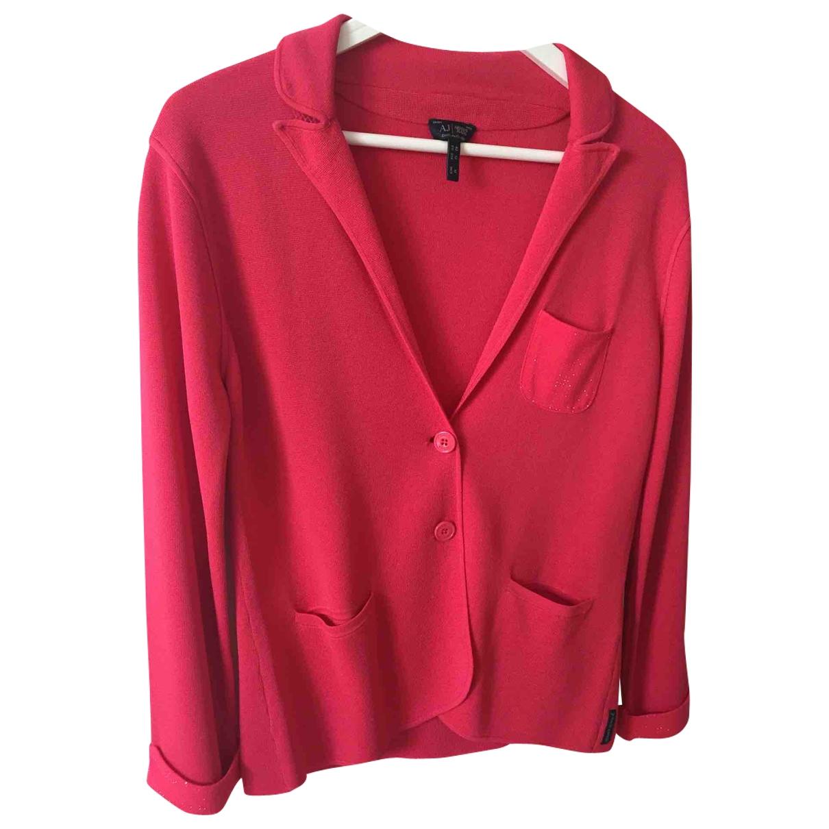 Armani Jeans \N Jacke in  Rot Viskose