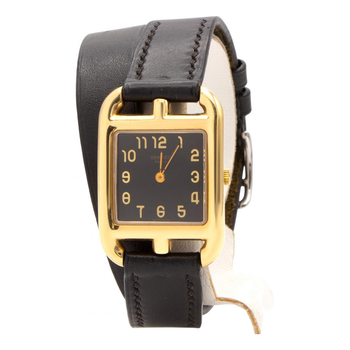 Hermès Cape Cod Black Yellow gold watch for Women N