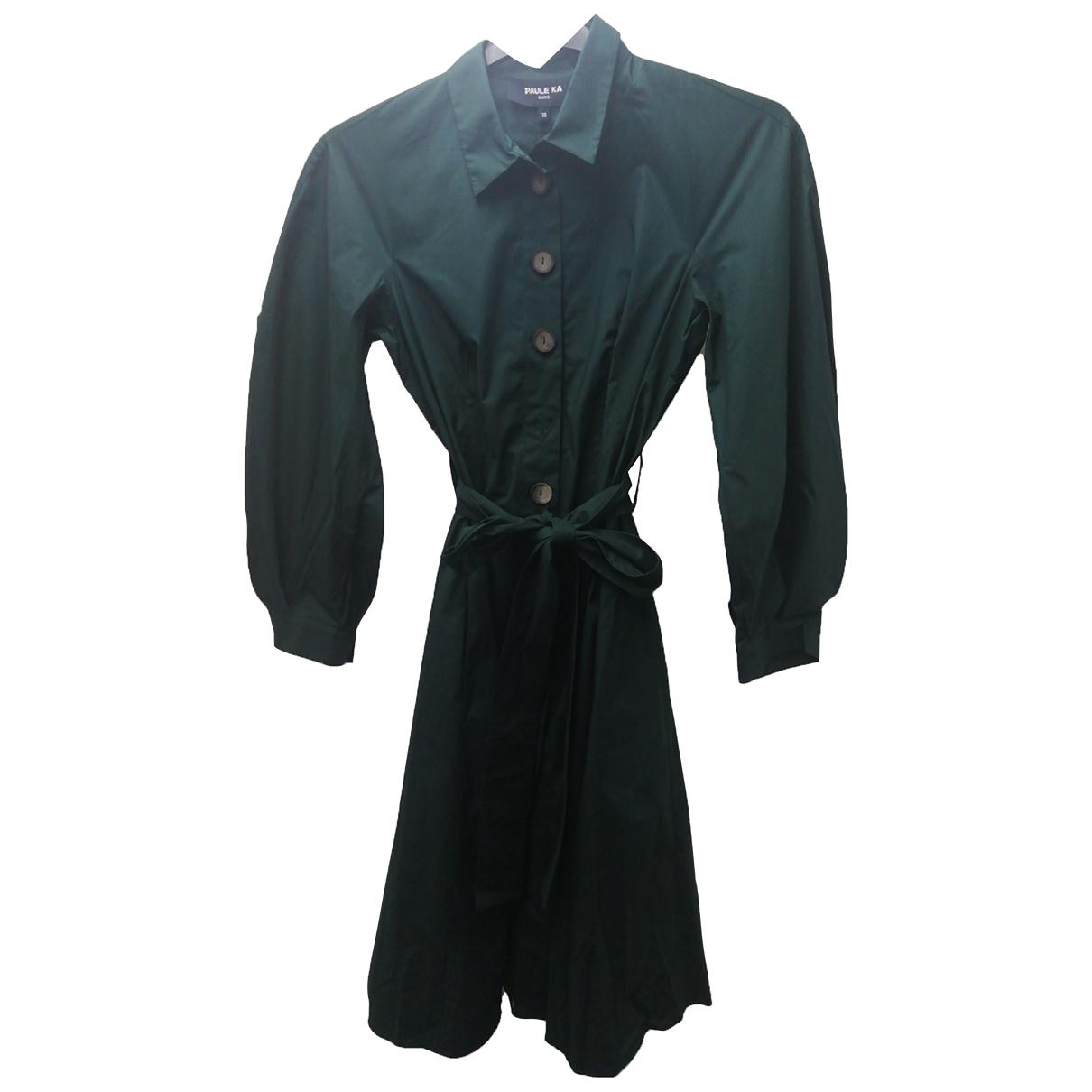 Paule Ka - Robe   pour femme en coton - vert
