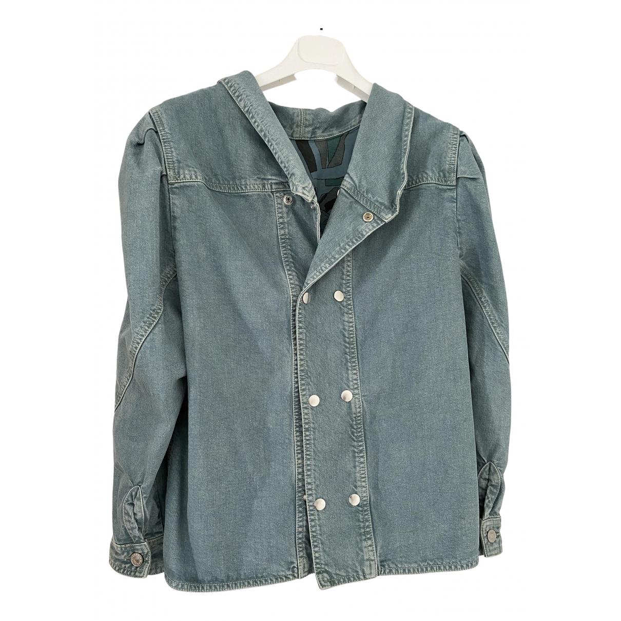 Isabel Marant \N Jacke in  Gruen Denim - Jeans