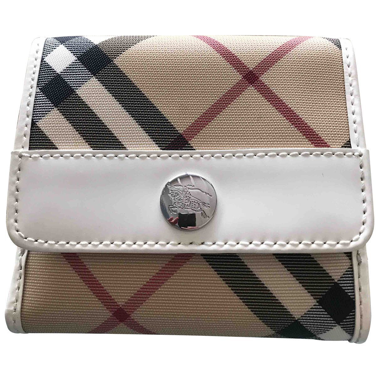 Burberry N White Cloth wallet for Women N
