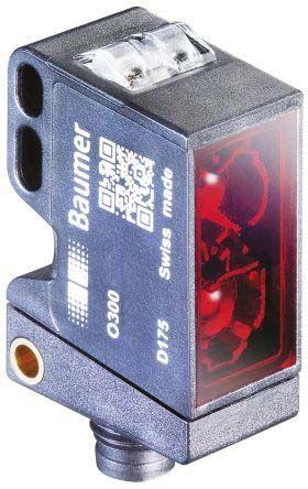 Baumer O300 Photoelectric Sensor Through Beam (Emitter and Receiver) 10 → 15 m Detection Range Push Pull