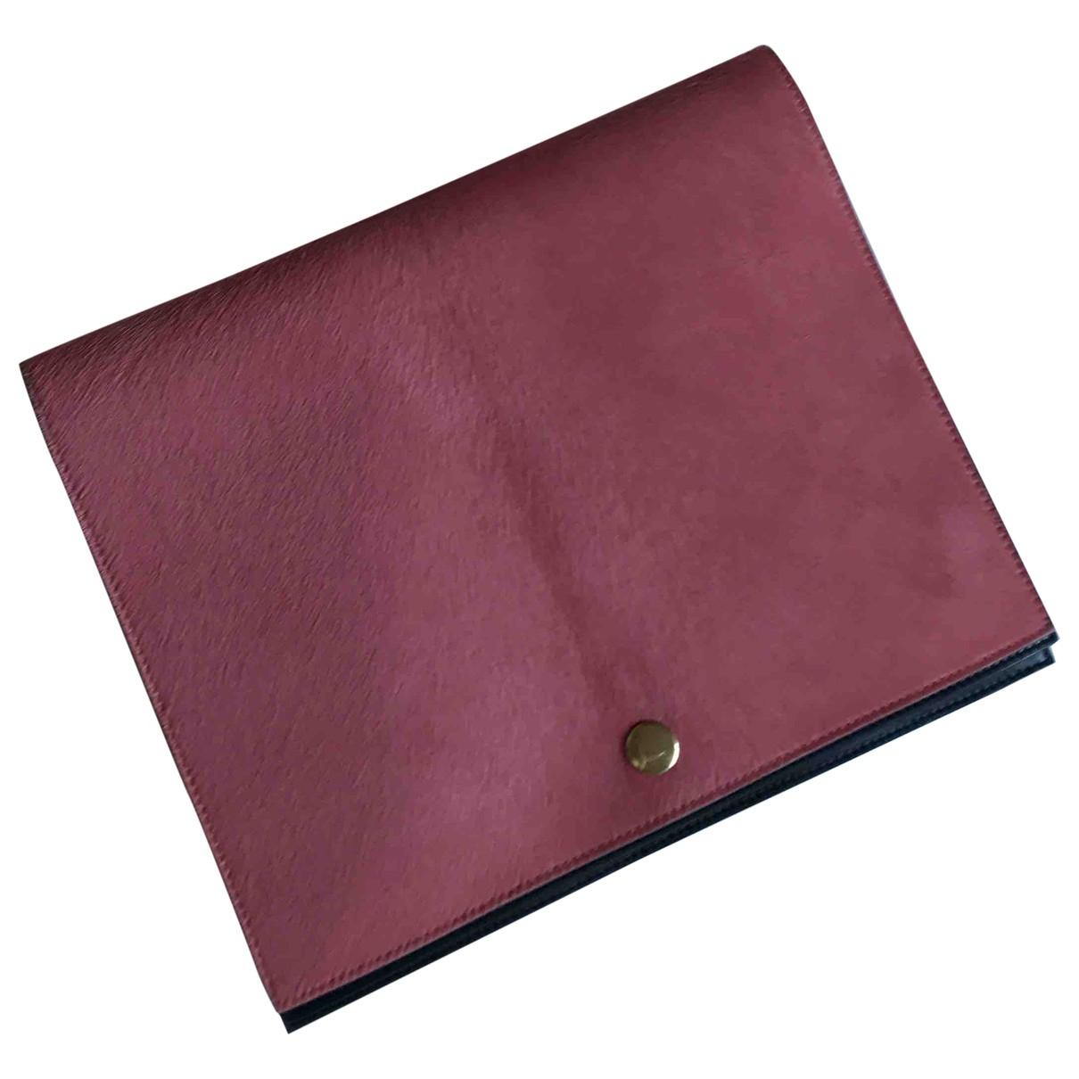 Celine - Pochette   pour femme en veau facon poulain - rose