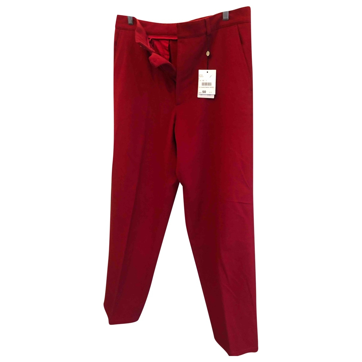 Valentino Garavani \N Red Cotton Trousers for Men 50 IT