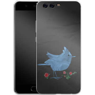Huawei P10 Silikon Handyhuelle - Watercolour Bird Black von caseable Designs