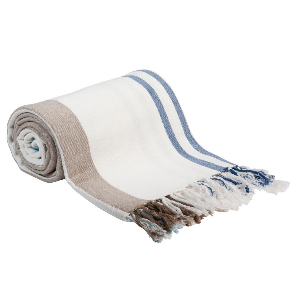 Decke aus Baumwolle mit Streifenmuster, 160x210