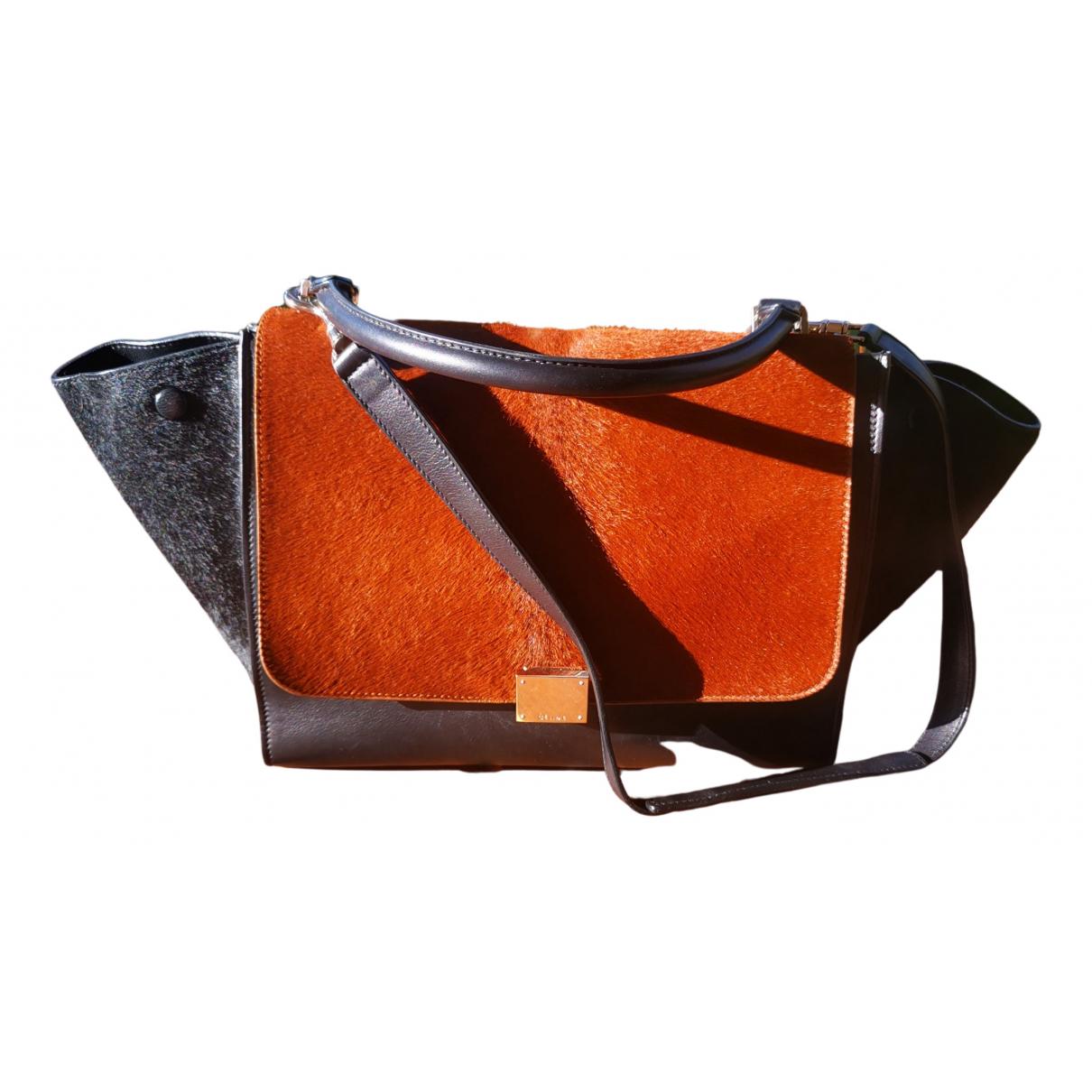 Celine Trapèze Black Pony-style calfskin handbag for Women N
