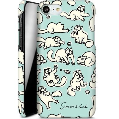 Apple iPhone 7 Smartphone Huelle - Simon´s Cat Green Pattern von Simons Cat