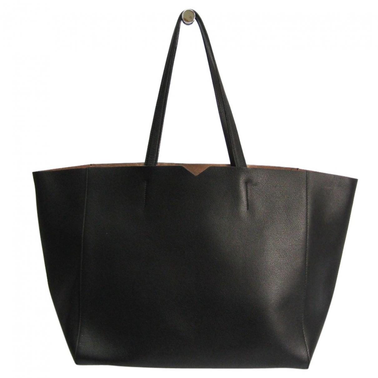 Valextra N Black Leather handbag for Women N