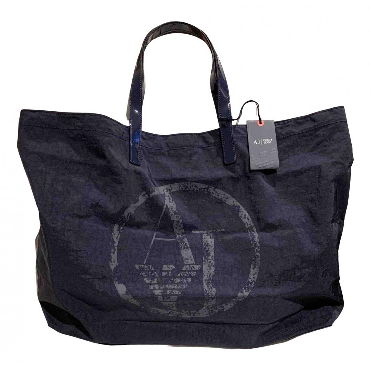 Armani Jeans \N Handtasche in  Blau Leinen