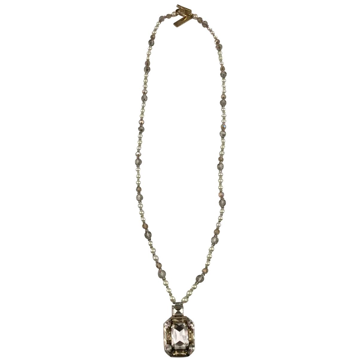 Max Mara N White Metal Long necklace for Women N