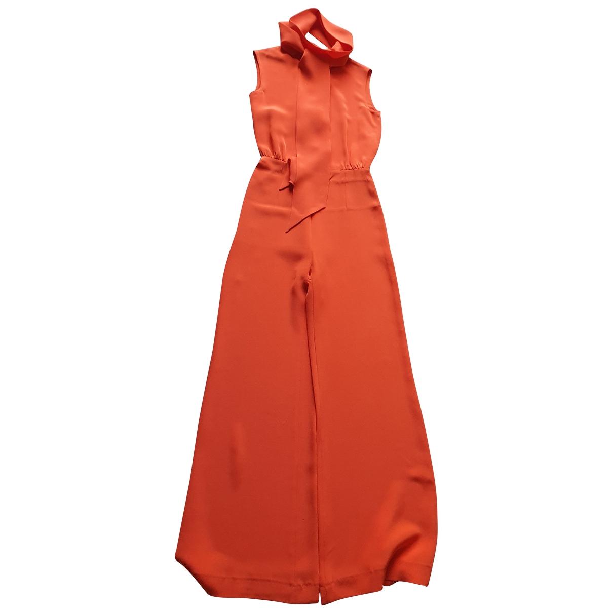 Celine - Combinaison   pour femme en soie - orange
