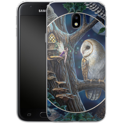Samsung Galaxy J3 (2017) Silikon Handyhuelle - Owl Montage von Lisa Parker