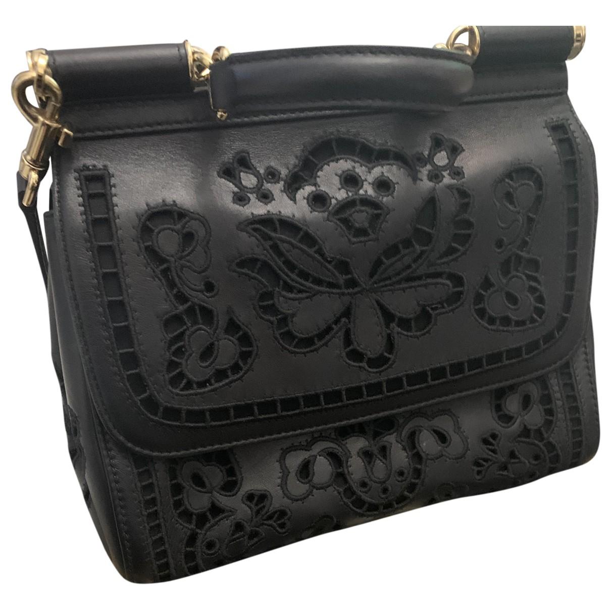 Dolce & Gabbana Sicily Black Leather handbag for Women N