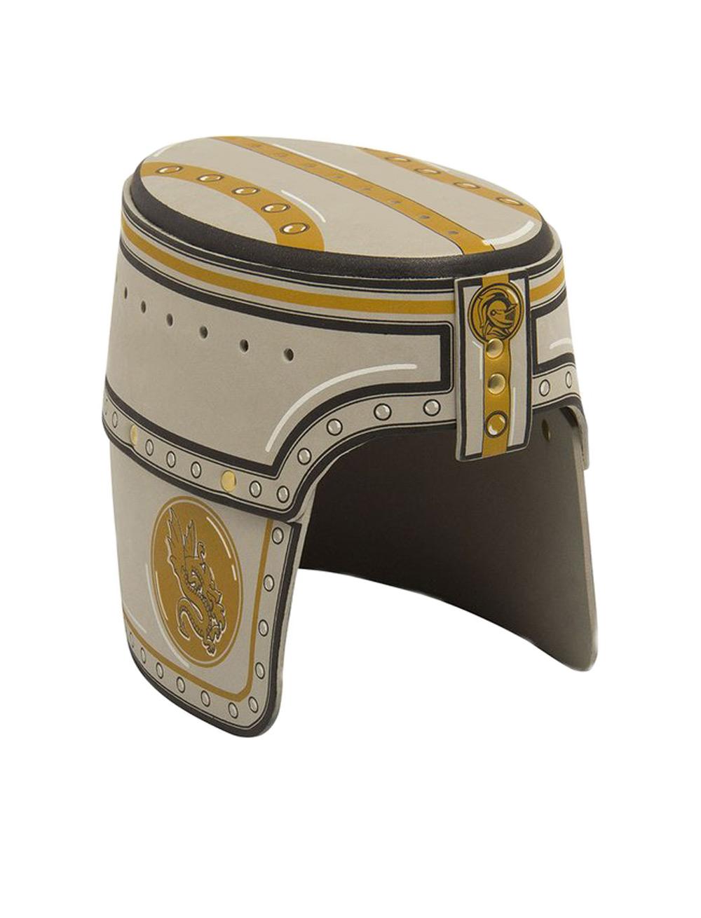 Kostuemzubehor Helm Ritter Farbe: gold