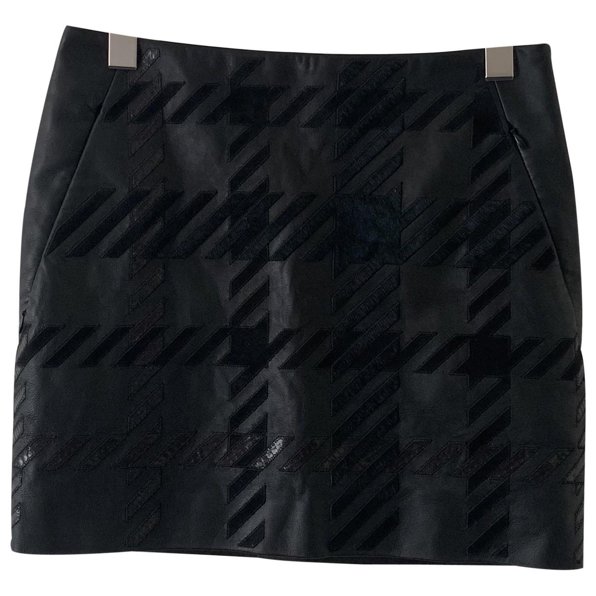 Barbara Bui \N Black Leather skirt for Women 36 FR