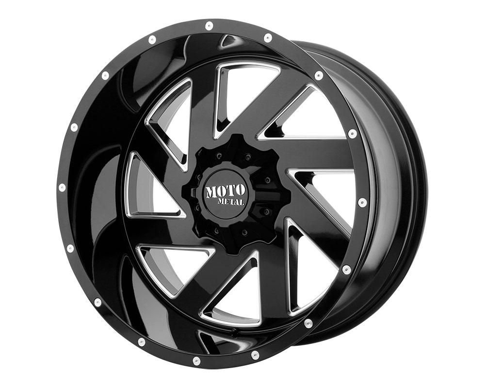 Moto Metal MO98821080318N MO988 Melee Wheel 20x10 8x8x165.1 -18mm Gloss Black Milled