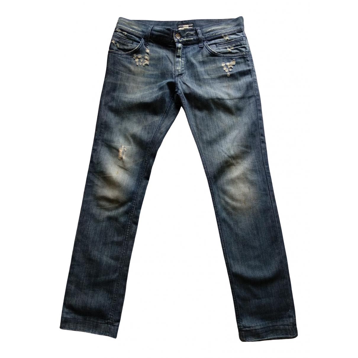 Dolce & Gabbana \N Blue Cotton Jeans for Men 32 US