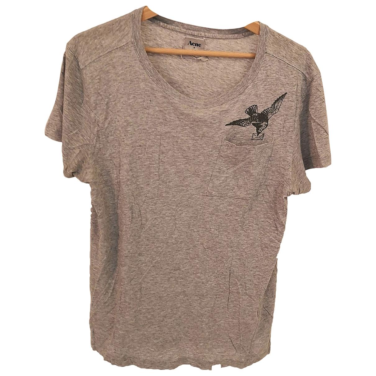 Acne Studios - Tee shirts   pour homme en coton - gris