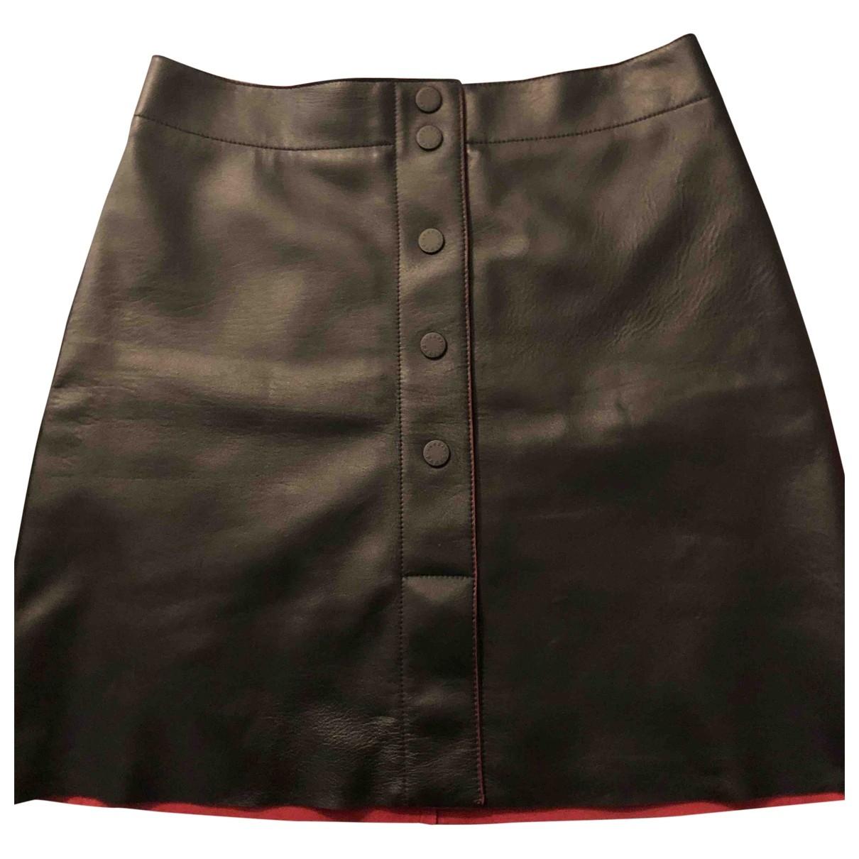Sandro Spring Summer 2019 Black Leather skirt for Women 3 0-5