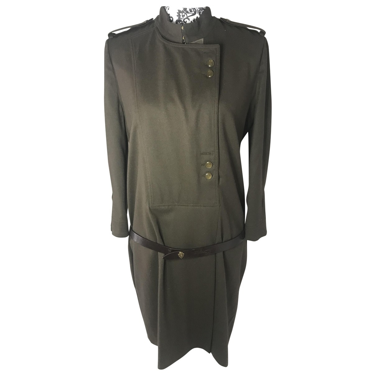 Gucci \N Khaki Wool dress for Women 44 IT