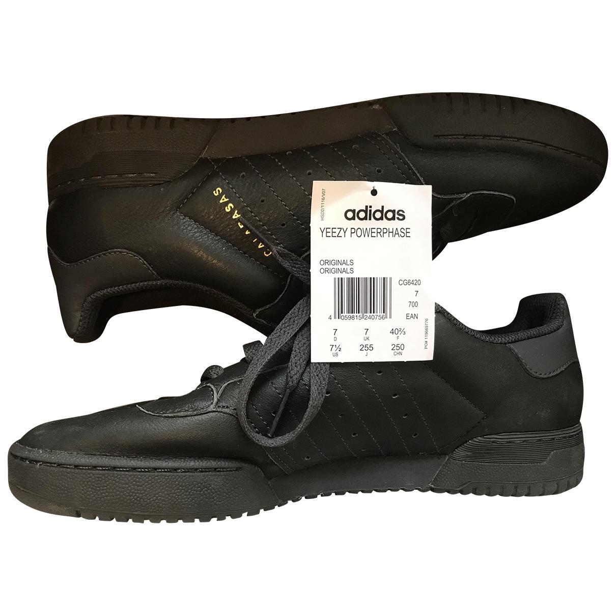 Yeezy X Adidas - Baskets POWERPHASE pour femme en cuir - gris