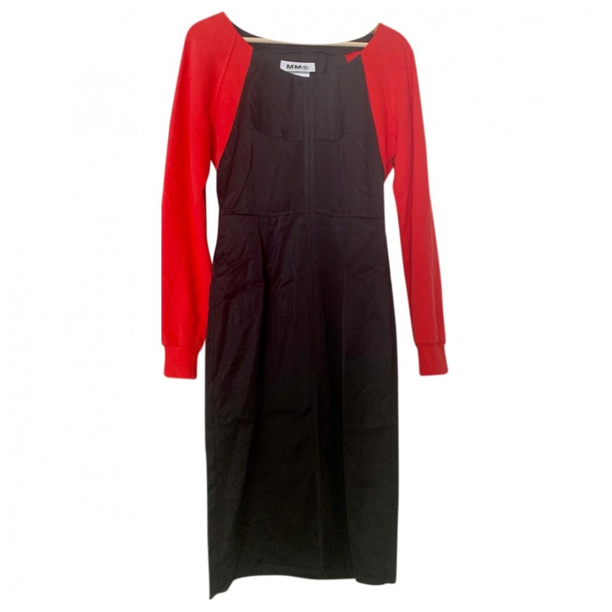 Mm6 - Robe   pour femme en coton - rouge