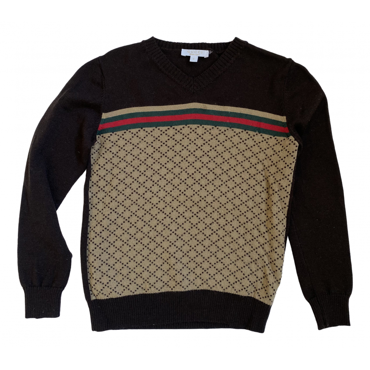 Gucci N Brown Wool Knitwear for Kids 4 years - up to 102cm FR